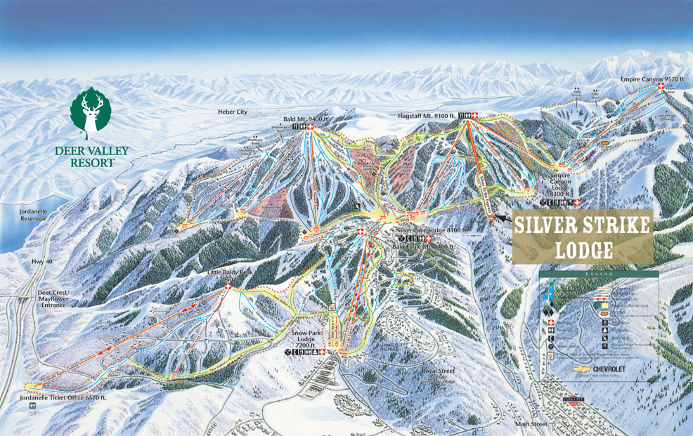 Deer Valley Map Silver Strike Lodge